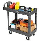 TUFFIOM Plastic Service Utility Cart, Support...
