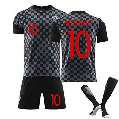 Kinder und Erwachsene Herren Jersey,10 Modric und 7 Rakitic Trikot Benutzerdefinierte Fußballuniform WM Kroatien, Erwachsene Fußball Trikot Kits Fußball Trikot T-Shirt und Shorts