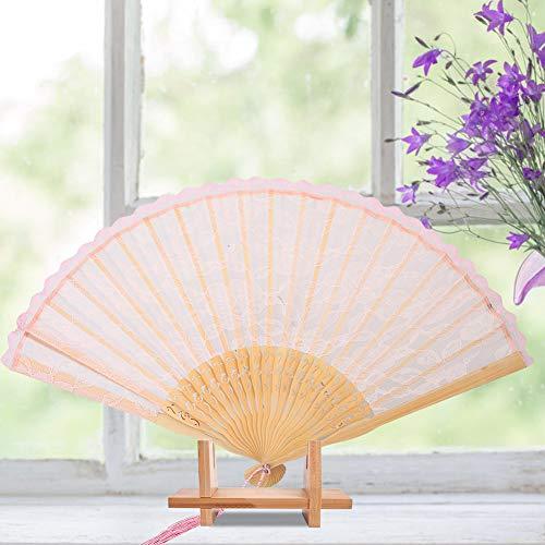 Changor Ventilador de Mano Plegable, Ventilador de Mano Negro Papel de Ventilador Plegable de Mano Hecho para decoración