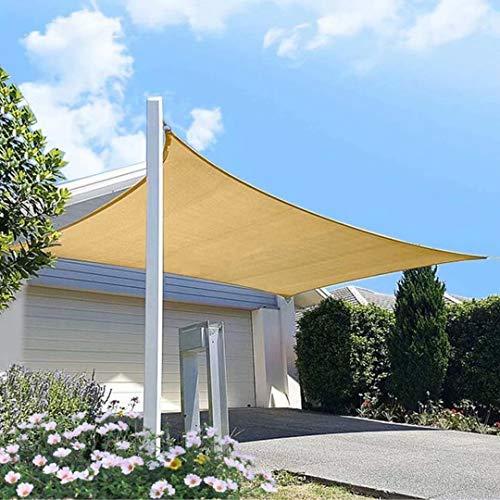 XXJF Vela Solar Sombra Rectangular UV Solar Protección PES , Resistente Desgarro Y,protección para Jardín Patio Piscinas Exteriores Jardín (Color : Sand, tamaño : 2.5x5.5m)