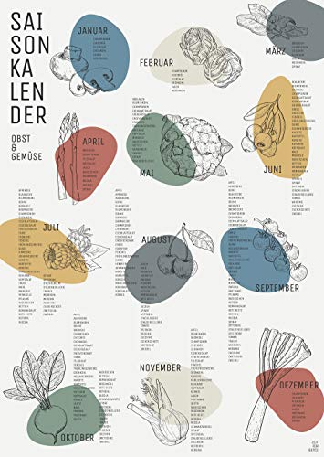 Zeit für Gutes Saisonkalender für Obst, Gemüse und Salat (DIN A2 Poster)