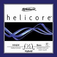 D'Addario ダダリオ ウッドベース(コントラバス)用 バラ弦 Helicore Hybrid E-String HH614 1/2M Medium Tension 【国内正規品】