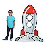 Rocket Ship Space Cardboard Photo Stand Up - Great for Classrooms and Parties