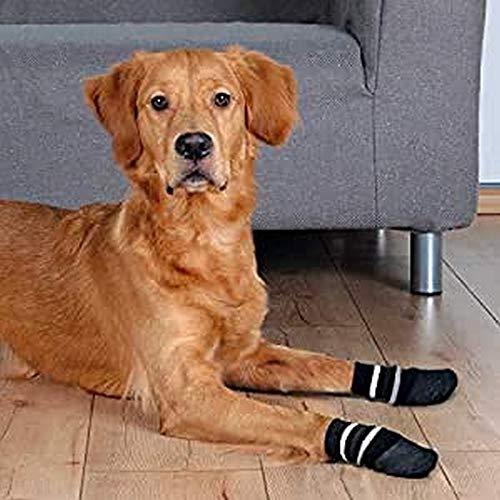 Trixie 19526 Hundesocken, Anti-Rutsch, XL, 2 St., schwarz