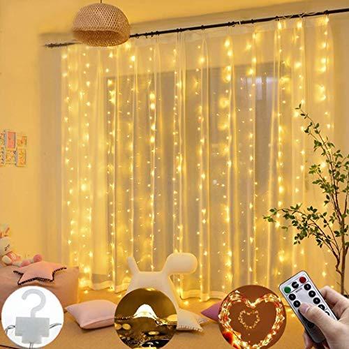 300 LED Tenda per Finestra con  Telecomando USB