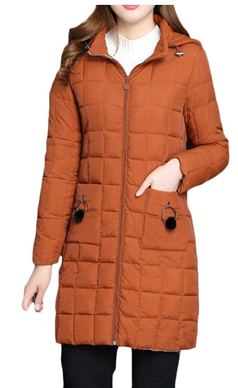 maweisong フード付きロングジャケット