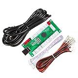 EG STARTS アーケードゼロ遅延USBエンコーダー - PCゲームコントローラー アーケードDIYキット パーツ メイムジャマ&その他PCゲーム用 (5ピンジョイスティック+サンワスタイルプッシュボタン)