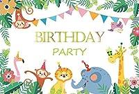 7×5フィートの壁の背景布ビニール動物の簡単な保管と可搬性パーティーの背景装飾背景の壁の祭り誕生日の写真撮影の背景写真の背景パーティーの壁の装飾背景