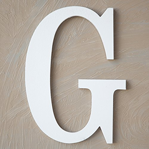 "The Lucky Clover Trading G Wood Block, 14"" L, White Wall Letter"