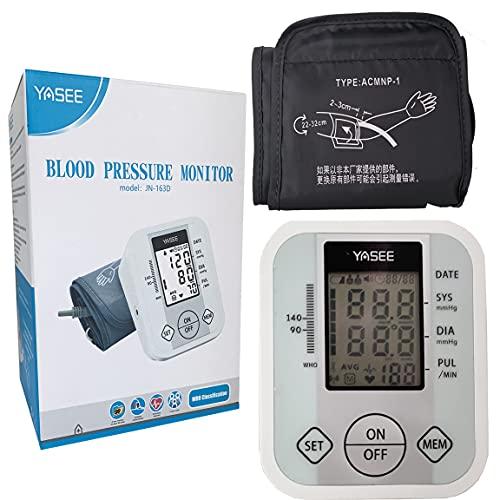 Monitor de presión arterial Monitor digital BP del brazo superior con puño grande completamente automático y medidor de ritmo cardíaco irregular y frecuencia de pulso