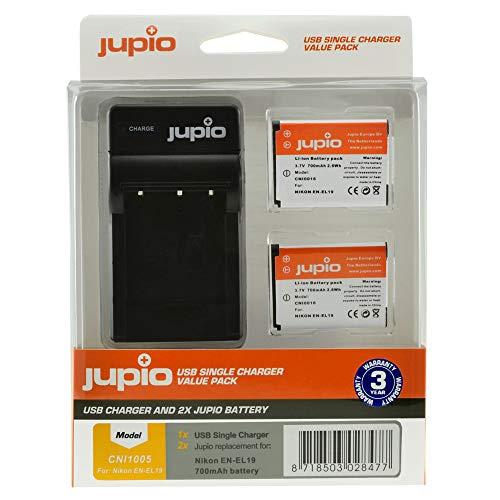 Kit de 2 baterías EN-EL19 + Cargador USB