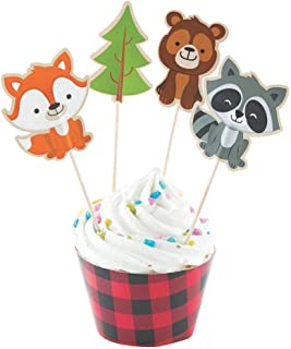 Fun Express Inc. Woodland Party Cupcake Wrappers & Picks - Makes 50 Treats