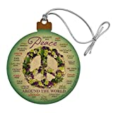 GRAPHICS & MORE How You Say Spell Peace Around World Wood Christmas Tree Holiday Ornament