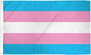 Jasper Merchandise Transgender Flag Pride LGBTQA 3 x 5 Feet (36 x 60 Inches) Polyester Two Metal Grommets Flagpole