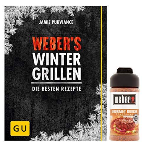 Weber's winterbarbecue: de beste recepten (GU Weber's grillen) Gebonden boek + 1 Weber Burger grillkruidenmengsel, 164 g
