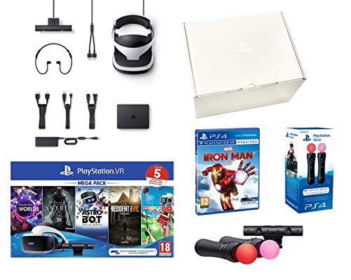 PlayStation VR2 MegaPack 2 Marvel's Iron Man VR + Astro Bot + Skyrim V + Resident Evil 7 + Everybody's Golf + VR Worlds + Twin Move Controllers