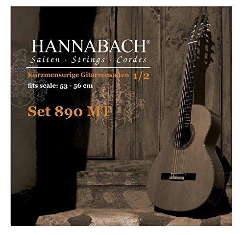 Hannabach 653079 Klassikgitarrensaiten Serie 890 1/2 Kindergitarre Mensur: 53-56cm - Satz