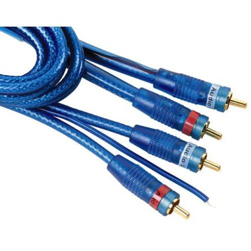 Hama LED-Cinch-Kabel 2 Stecker - 2 Stecker, 5,0 m, Blau, mit Remote