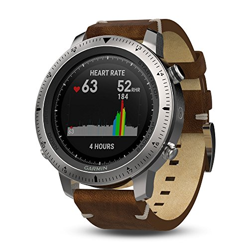 Garmin Herren-Uhren Rund Analog, digital One Size Leder 87062651