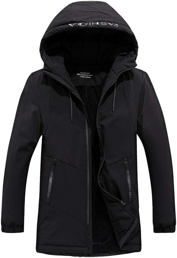 Snowman Lee Mens Slim Fit Winter Parka Coats Hoodied Warm Fleece Lined Work Jacket
