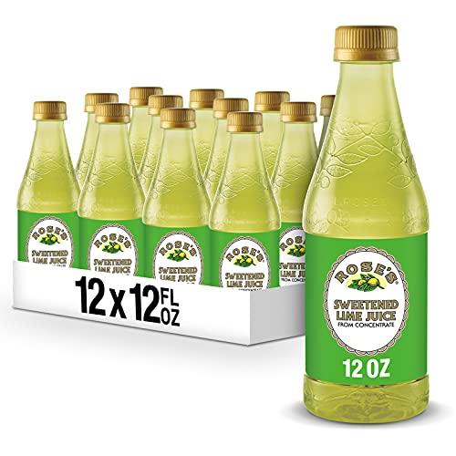 Rose's Sweetened Lime Juice, 12 fl oz bottles (Pack of 12)