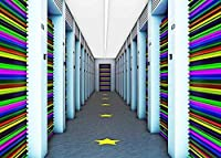 HD 7x5ftカラフルなドアの背景廊下写真の背景のテーマパーティー壁紙写真ブース小道具BJZDFH95