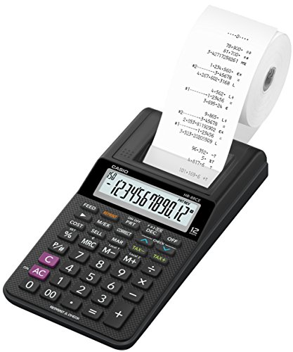 Casio HR-8RCE-BK - Mini calculadora impresora, 42 x 102 x 208.5 mm, negra