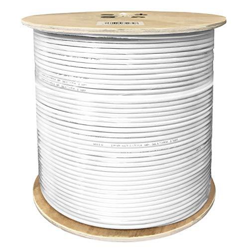 500m 135dB Sat Koaxialkabel CU Vollkupfer Koax Kabel Antennenkabel 4K UltraHD 4K 5-Fach geschirmt für DVB-S / S2 DVB-C DVB-T BK Anlagen Satkabel HD UHD ARLI verlegekabel 5 Fach schirmung 135 dB 500 m