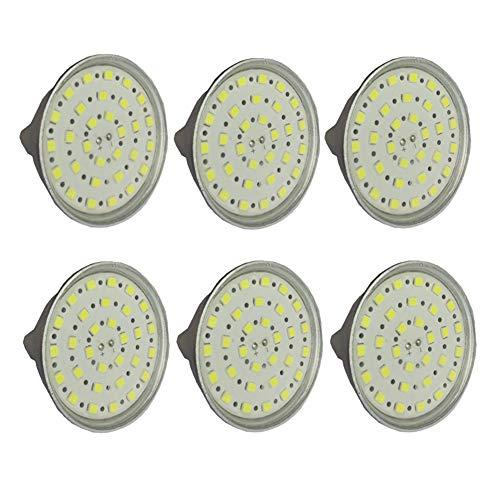 Wangqianli MR16 LED-Zwiebeln 24V 6W - 50W Äquivalent GU5.3 Base AC/DC 24-40V -Für nach Hause, Einbau, Akzent, Spurbeleuchtung, 6-Pack (Farbe : Warm White)
