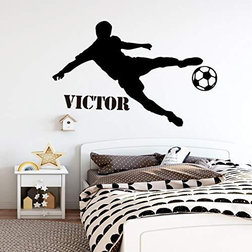 Nombre Personalizado De Fútbol Pegatina De Pared para Habitación De Niños, Habitación De Niños, Vinilo Extraíble, Calcomanías Murales XL 7