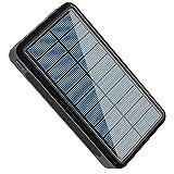 SPARKX Chargeur Solaire 30000mAh Portable Power Bank Grand Camping Lumière Chargeur Externe Portable Batterie Compatible avec Smartphone et Plus,A,10000mA