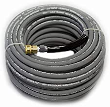 "100 ft 3/8"" Gray Non-Marking 4000psi Pressure Washer Hose With Quick Couplers"