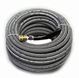 100 ft 3/8' Gray Non-Marking 4000psi Pressure Washer Hose With Quick Couplers