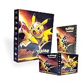 Tarjetero Pokémon, Álbum de Pokemon,Álbum de Cartas Coleccionables Pokémon, Álbum de Entrenador de Cartas Pokémon GX EX. El álbum Tiene 30 páginas y Puede Contener 240 Tarjetas. (Pikachu)