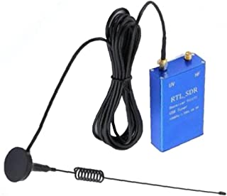 USB Tuner Ontvanger RTL SDR 100KHz-1.7GHz Full-Band UHF UV HF Ham Radio Gevoelige Ontvanger met Antenne Blauw