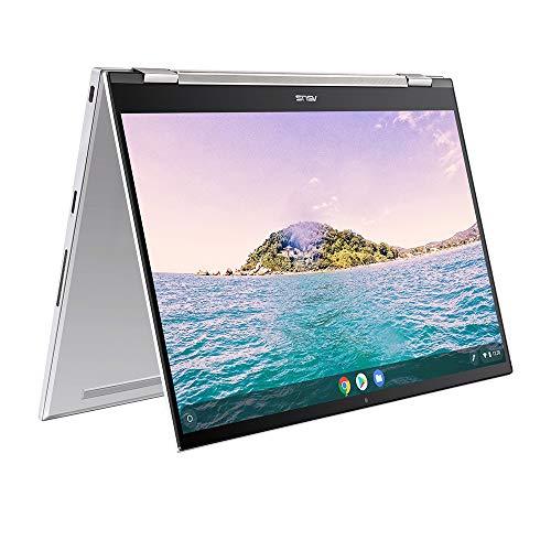 ASUS Chromebook Flip C436FA 14 Inch Full HD Touchscreen Laptop (Intel i5-10210U, 8GB RAM, 256GB M.2 NVMe PCIe SSD, Backlit Keyboard) - Includes Stylus Pen, Aerogel White