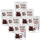 Nib Mor Dark Vegan Chocolates - Organic Snacking Bite Squares with 72% Cacao, Peppermint Pieces -...