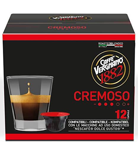 Caffè Vergnano 1882 Capsule Caffè Compatibili Nescafé Dolce Gusto, Cremoso - 6 confezioni da 12 capsule (totale 72)
