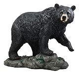 "Ebros Large Realistic Strolling Black Bear Statue 16.5"" Long Rustic Cabin Decor Figurine"