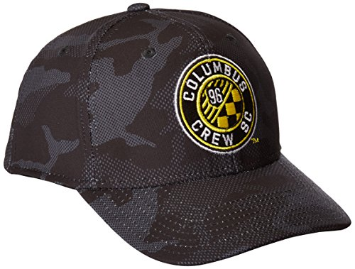 MLS Columbus Crew Adult Men MLS SP17 Fan Wear Tonal Camo Structured Adjustable Cap,OSFM,black