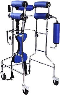 Elderly walker Hemirrhagic Hemiplegia Rehabilitation Equipment Double Design with casters Soft and Comfortable armrest Non-Slip Sweat Walking Assisted walker