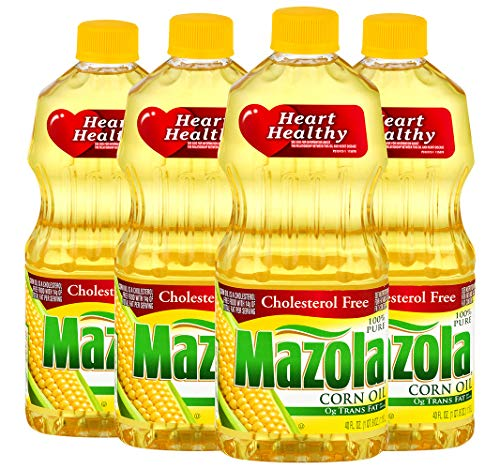 Mazola 100% Pure Corn Oil, Cholesterol Free And Heart Healthy, All Purpose Cooking Oil for Grilling, Sautéing, Stir Frying & Baking, 40 oz. (Pack Of 4)