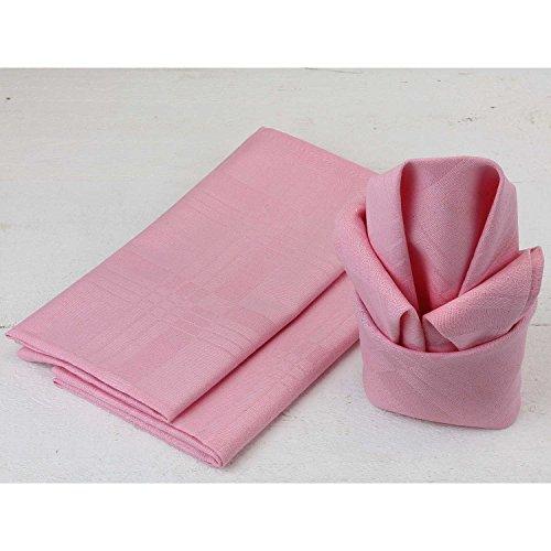 MACOSA 12er Set edle Stoffservietten | Rosa | 45x45 cm | 100% Baumwolle | Tischwäsche Tisch-Dekoration Mundservietten Textil