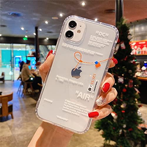 LiNMNM scatola del telefono Mobile iPhone 12 mini 11 x xs max xr 7 8 6 6 S più scarpe sportive INS etichetta bianca morbida TPU copertura