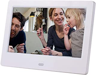 Digital Photo Frame,8 Inch Digital Photo Frame,MP3/MP4 Player 7 Video Player Electronic Picture Album with Display Stand,White