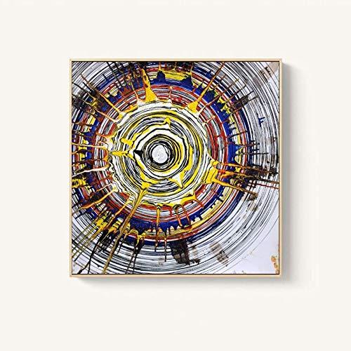 Pintura al óleo Abstracta póster e impresión Mural Pintura Abstracta Acuarela Anillo Anual Sala decoración Pintura,Pintura sin Marco,40X40cm