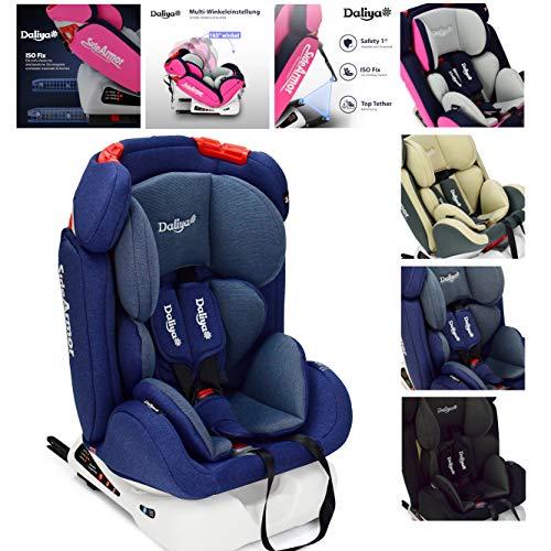 Daliya Sitorino 0-36 KG 0-12 Jahre Autositz Kindersitz Gruppe 0+1+2+3 Blau mit Isofix Fix und Top Tether 5 Punkt Sicherheitsgurt ECE-R44 / 04