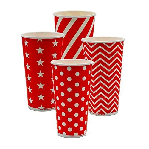 Pack&Cup Eco Einwegbecher Pappbecher für Kaltgetränke Lollipop 500 ml (20 OZ) 50 Stück
