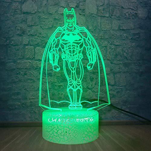 Marvel Figure Batman Night Light 3D LED Table Desk Lamp Children's Bedside Lampen Party Bedroom Bar Mall Decor Kids Toys Gift