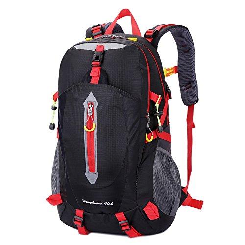 Viunce Waterdichte bergtas voor buiten, 40 liter, voor lichte mannen en vrouwen, voor sport en vrije tijd, voor studenten, laptoptas, klimtas voor buiten